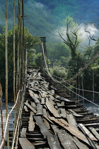 Very Old Suspension Bridge